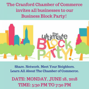 Cranford Area Chamber of Commerce Business Block Party @ Hanson House Park | Cranford | New Jersey | United States