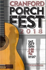2nd Annual Cranford Porchfest @ All Over Cranford