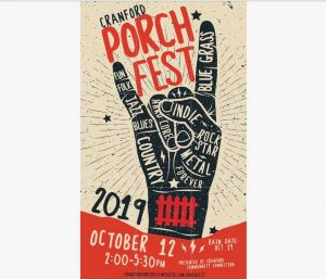 3rd Annual Cranford Porchfest @ All Over Cranford