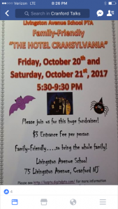 "Livingston School PTA ""The Hotel Cransylvania"" @ Livingston Avenue School   Cranford   New Jersey   United States"