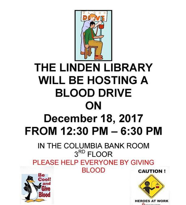 Linden Library Blood Drive