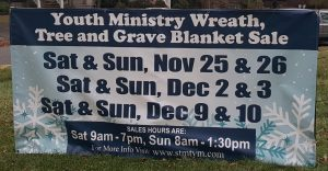 Youth Ministry Wreath, Tree and Grave Blanket Sale @ St. Michael's School | Cranford | New Jersey | United States