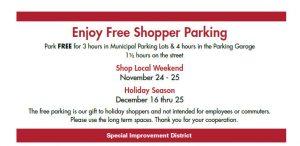 Free Shopper Parking @ Downtown Cranford