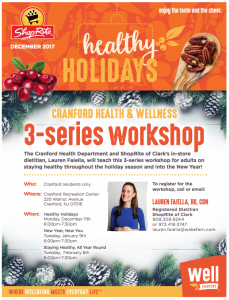 Staying Healthy, All Year Round @ Cranford Community Center | Cranford | New Jersey | United States