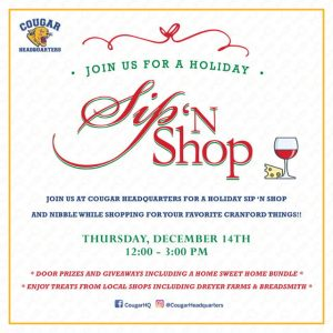 Cougar Headquarters Holiday Sip n Shop @ Cougar Headquarters | Cranford | New Jersey | United States