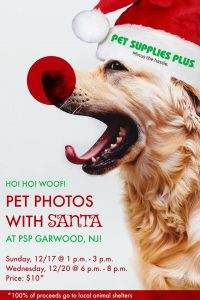 Pet Photos with Santa at PSP Garwood @ Pet Supplies Plus | Garwood | New Jersey | United States