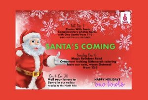 ONO BOWLS Hosts Free Photo With Santa & Festive Family Fun @ Ono Bowls | Westfield | New Jersey | United States