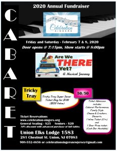 Celebration Singers Annual Fundraiser & Dessert Cabaret! @ Union Elks Lodge 1583 | Union | New Jersey | United States