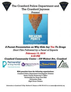 Why Kids Say Yes To Drugs @ Cranford Community Center | Cranford | New Jersey | United States