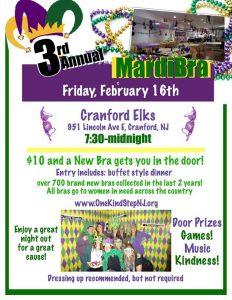 3rd Annual MardiBra @  Cranford Elks  | Cranford | New Jersey | United States