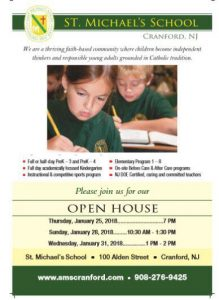 St. Michael's School, Cranford - Open House @ St. Michael School | Cranford | New Jersey | United States