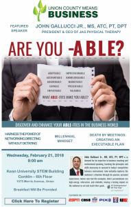 """Are you –ABLE?"" Networking Breakfast @ Kean University STEM Building 