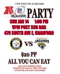 NFL Playoff Party VFW Post 335 Auxiliary @ VFW Post 335 Bar | Cranford | New Jersey | United States