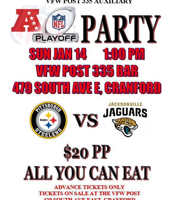 NFL Playoff Party VFW Post 335 Auxiliary