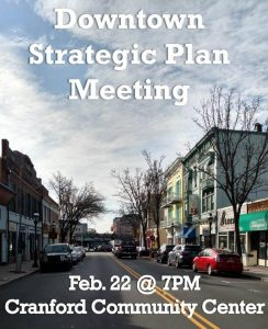 Downtown Strategic Plan Meeting @ Cranford Community Center | Cranford | New Jersey | United States