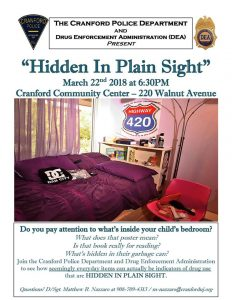 Hidden In Plain Sight @ Cranford Community Center | Cranford | New Jersey | United States