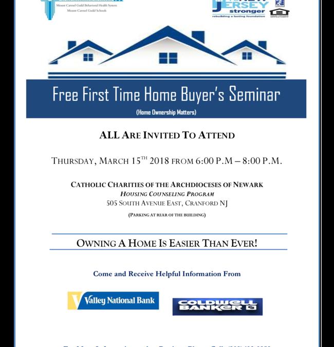 Free First Time Homebuyers Seminar