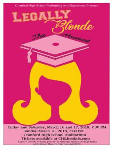 Cranford High School Performing Arts Department presents Legally Blonde The Musical @ Cranford High School | Cranford | New Jersey | United States