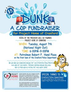 Dunk A Cop Fundraiser for Project Home of Cranford @ Front lawn of the Cranford Police Department