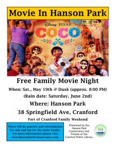 Movie in the Park @ Hanson Park | Cranford | New Jersey | United States