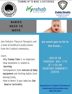 BABIES NEED TO MOVE @ Cranford Community Center | Cranford | New Jersey | United States