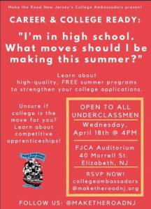 Career and College Ready @ FJCA Auditorium | Elizabeth | New Jersey | United States