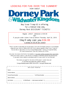 Boy Scout Troop 63 Fundraiser - Dorney Park Tickets @ Century 21 Supreme Realty | Cranford | New Jersey | United States