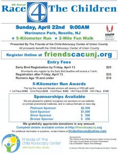 4th Annual Race 4 the Children @ Warinanco Park | Roselle | New Jersey | United States