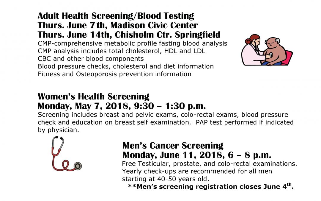 Adult Health Screening/Blood Testing