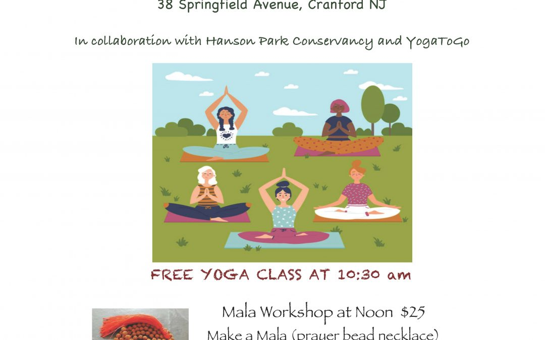 Yoga Day & Mala Bead Workshop At Hanson Park