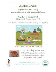 Yoga Day & Mala Bead Workshop At Hanson Park @ Hanson Park | Cranford | New Jersey | United States
