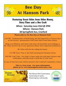 Bee Day at Hanson Park @ Hanson Park Conservancy  | Cranford | New Jersey | United States