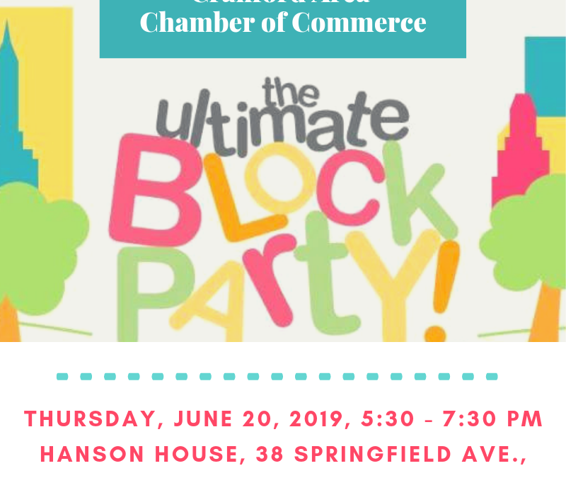 Cranford Area Chamber of Commerce Business Block Party – Canceled due to weather