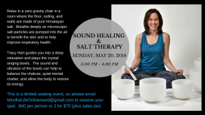 Sound Healing & Salt Therapy @ Nature's Salt Cave & Float Pod, Cranford, NJ | Cranford | New Jersey | United States
