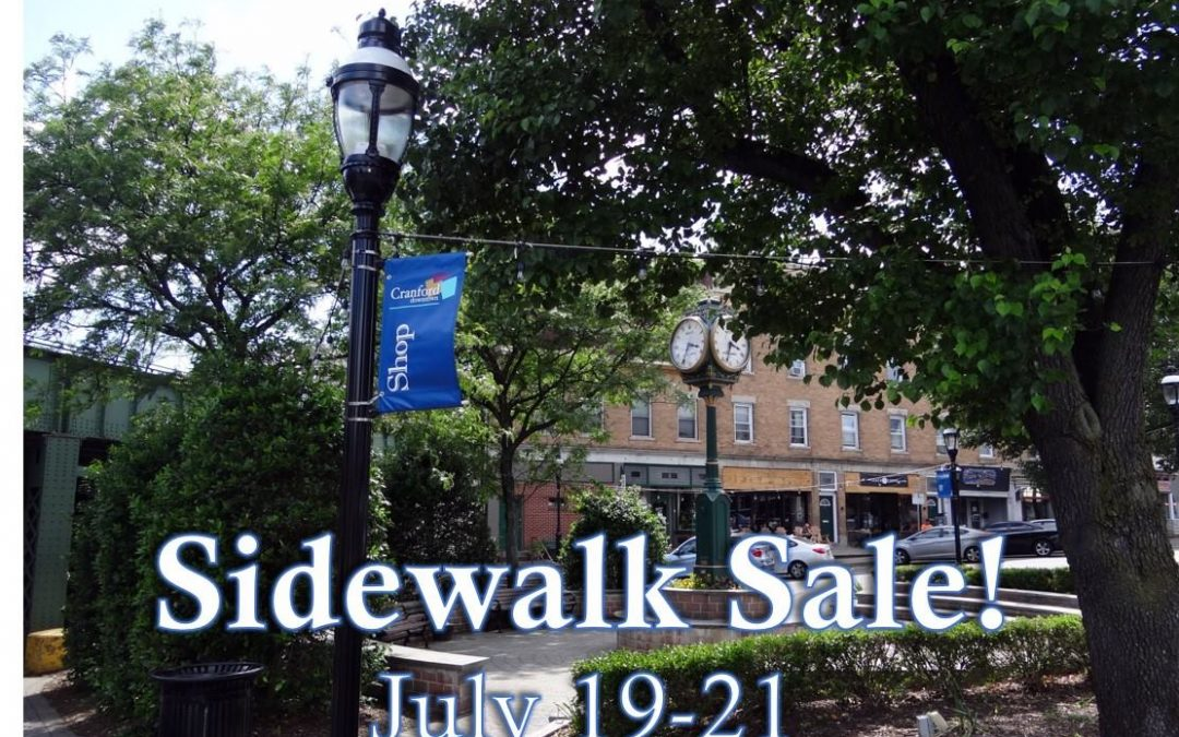 Downtown Cranford Sidewalk Sale