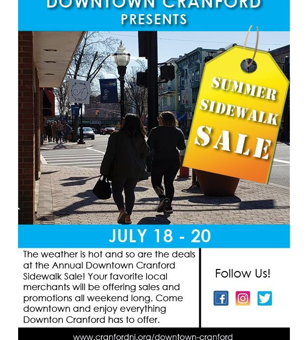 Downtown Cranford Summer Sidewalk Sale