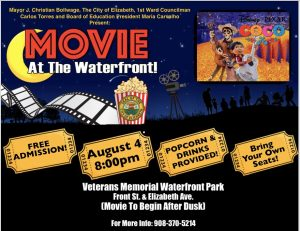 Movie at the Waterfront! @ Veteran's Memorial Waterfront Park  | Elizabeth | New Jersey | United States