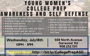 Young Women's College Prep Awareness & Self Defense Class @ Hands of Life Martial Arts | Garwood | New Jersey | United States