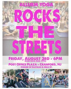 Rock Yoga Hits the Streets!  Again! @ Post Office Plaza | Cranford | New Jersey | United States