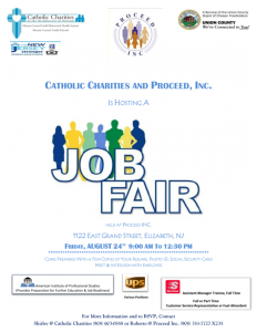 Catholic Charities And Proceed, Inc. Job Fair @ Proceed Inc. | Elizabeth | New Jersey | United States