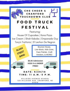 CHS Cheer & Touchdown Club Food Truck Festival @ Hillside Avenue School | Cranford | New Jersey | United States