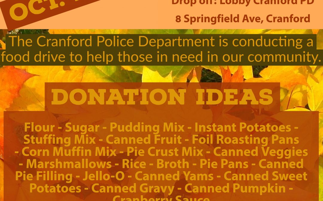 Cranford Police Thanksgiving Food Drive