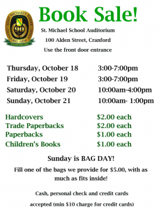 Saint Michael's School 2nd Annual Used Book Sale @ Saint Michael School | Cranford | New Jersey | United States