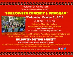 Halloween Concert in the Gazebo Park @ Michael J. Mauri Gazebo Park | Roselle Park | New Jersey | United States