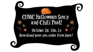 CUMC Halloween Soup and Chili Fest! @ Cranford United Methodist Church, NJ | Cranford | New Jersey | United States