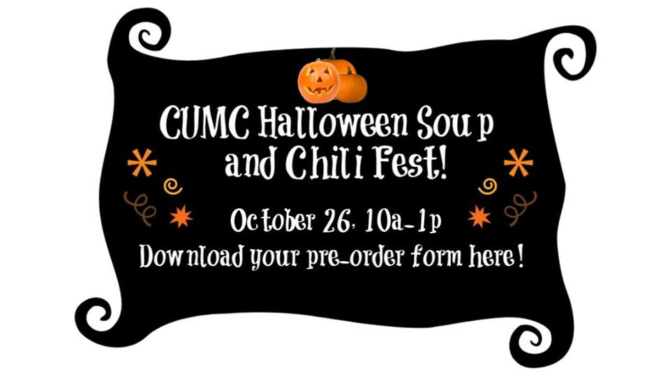 CUMC Halloween Soup and Chili Fest!