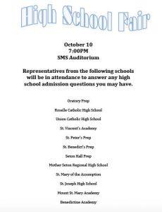 Catholic High School Fair @ Saint Michael School | Cranford | New Jersey | United States