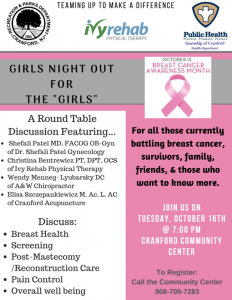 "Girls Night Out for ""The Girls"" @ Cranford Community Center 