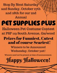 Pet Supplies Plus Garwood Pet Halloween Costume Contest @ Pet Supplies Plus | Garwood | New Jersey | United States