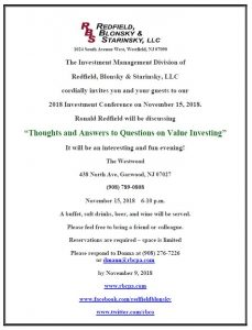 "2018 Investment Conference: ""Thoughts and Answers to Questions on Value Investing"" @ The Westwood 
